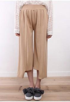 High-Low Hem Knit Pants
