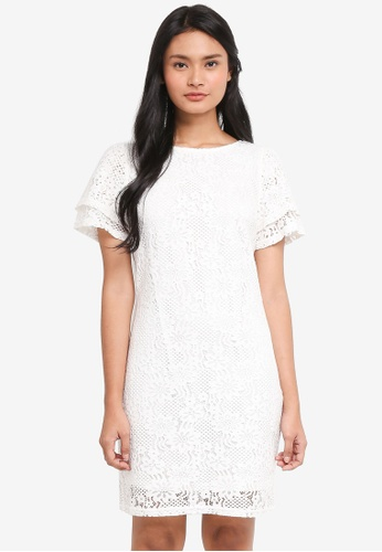 Dorothy Perkins white Ivory Lace Shift Dress 4AF83AAB659A44GS_1