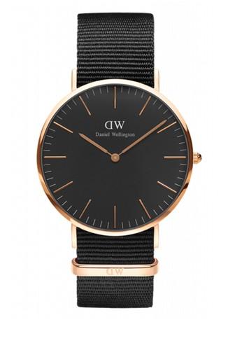 Cornwall 40mm 經典黑錶盤esprit hk NATO 手錶, 錶類, 飾品配件
