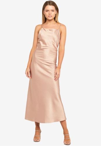 Bardot pink Estelle Drape Dress 55D09AA7D5D820GS_1