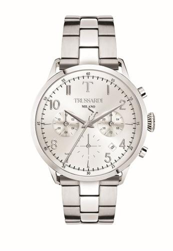 Trussardi silver T-Evolution Quartz Watch R2453123007 Silver Stainless Steel Strap 66CC1ACD93E8CCGS_1