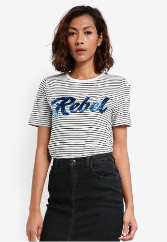 Vero Moda black and white Girls T-Shirt Box 17665AACDFE606GS_1