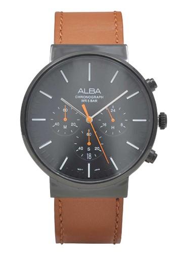 ALBA brown ALBA Jam Tangan Pria - Brown Black - Leather Strap - AT3F13  5245FAC956139DGS 1 92ae830222