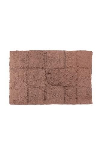 Charles Millen brown Charles Millen Suite Collection Tera 2PC 100% Cotton Tufted Bath Rug / Bath Mat 50x50, 50x80cm/ 0.975g. 06526HLD0F283DGS_1