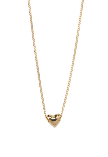Zolace gold Keep Me in Your Heart Necklace ZO350AC02AONMY_1