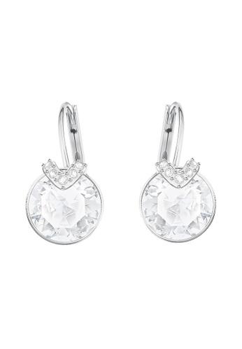 Swarovski silver Bella V Pierced Earrings B79FCACD58BB60GS_1