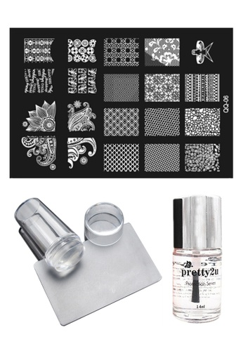 Pretty2u Nail Art Stamp Plate QQ06 Set PR716BE13KAKMY_1