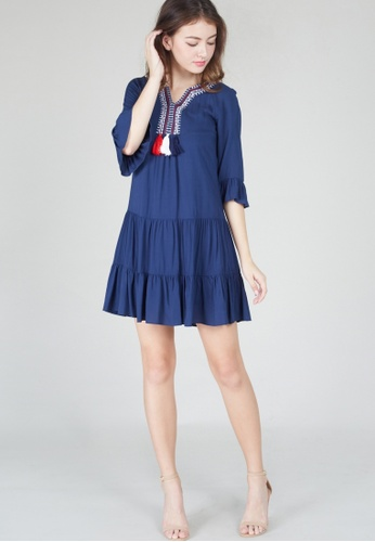 Moss Fashion navy Sharee Dress in Navy 45A39AA0FEF791GS_1