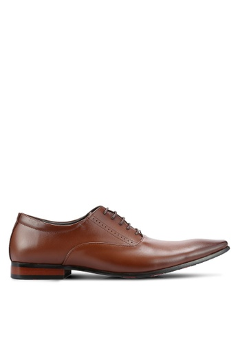 Frank Williams brown Leather Dress Shoes FR169SH0RE6SMY_1