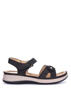 f58f2648ff3a H2Ocean black Daba Ankle Strap Wedge Sandals 4ECC6SHC3DF443GS 1