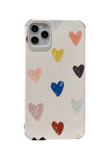 Kings Collection white Heart Pattern iPhone 11 Pro Max Case (KCMCL2147) CF466ACC5FCB1EGS_1