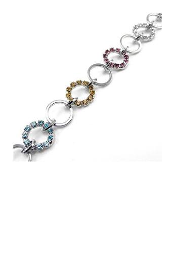 Glamorousky multi Elegant Circle Bracelet with Multi-color Austrian Element Crystal 043B6AC875C1F7GS_1