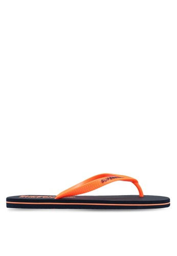 Superdry orange and navy SUPERDRY SLEEK FLIP FLOP F1F17SH74C9619GS_1