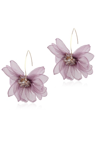 Sunnydaysweety purple Holiday Style Large Petal Pendant Earrings A21032411PU A859DAC4C609E1GS_1