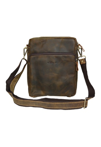 EXTREME brown Extreme Vintage Leather Sling Bag B8F20AC1F9DCFFGS_1