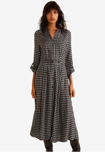 Mango black Checkered Shirt Dress 7BAB0AA068AEE5GS_1