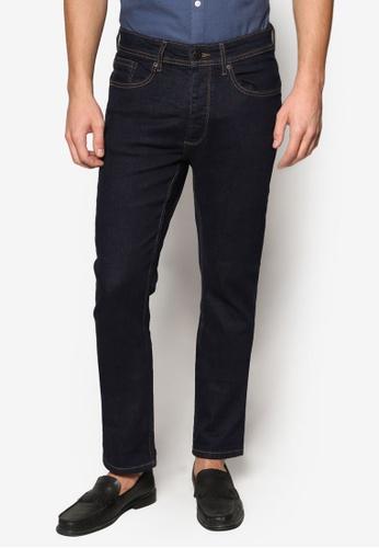 Burton Menswear London 海軍藍色 簡約修身牛仔褲 BU964AA43BXOMY_1