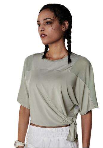 Sunnydaysweety green Mesh See-Through Mid Sleeve Running T-Shirt A081011GR 0E1B4AA56CDC95GS_1