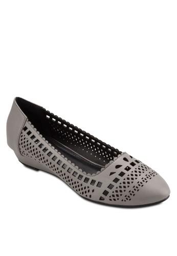 Paige Cut-Out Low Wedges, 女鞋, 厚esprit 衣服底楔形鞋