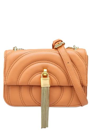 NATALIE & PEPPER 橘色 Baizy Gold Tassel Sling Bag FB6F6AC084ACF8GS_1