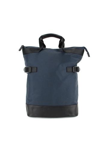 Alef blue Alef Raffles Top Zip Backpack in Blue 46A8BACA8411EAGS_1