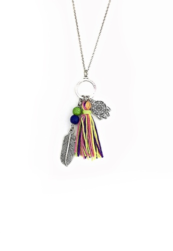 Shop Trinkets For Keeps Feather Dream Catcher And Tassel Necklace Simple Dream Catcher Necklace Philippines