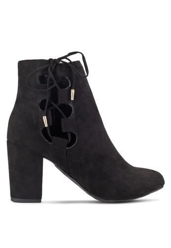 Dorothy Perkins black Black Annabelle Lace-Up Boots DO816SH85TTIMY_1