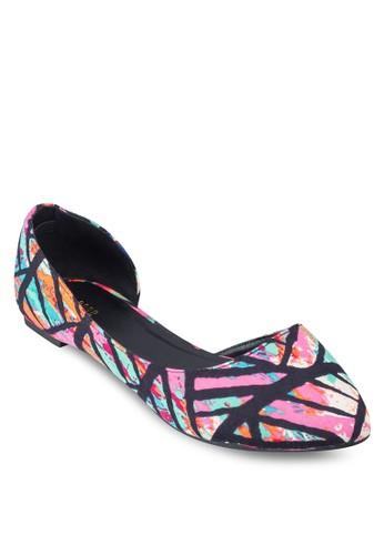 印花側空平底鞋, esprit 品牌女鞋, 芭蕾平底鞋