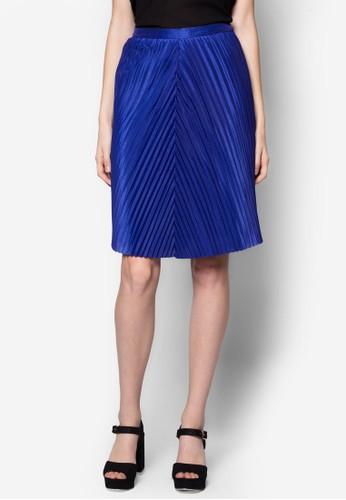 斜紋褶飾及膝裙,zalora 心得 服飾, 服飾
