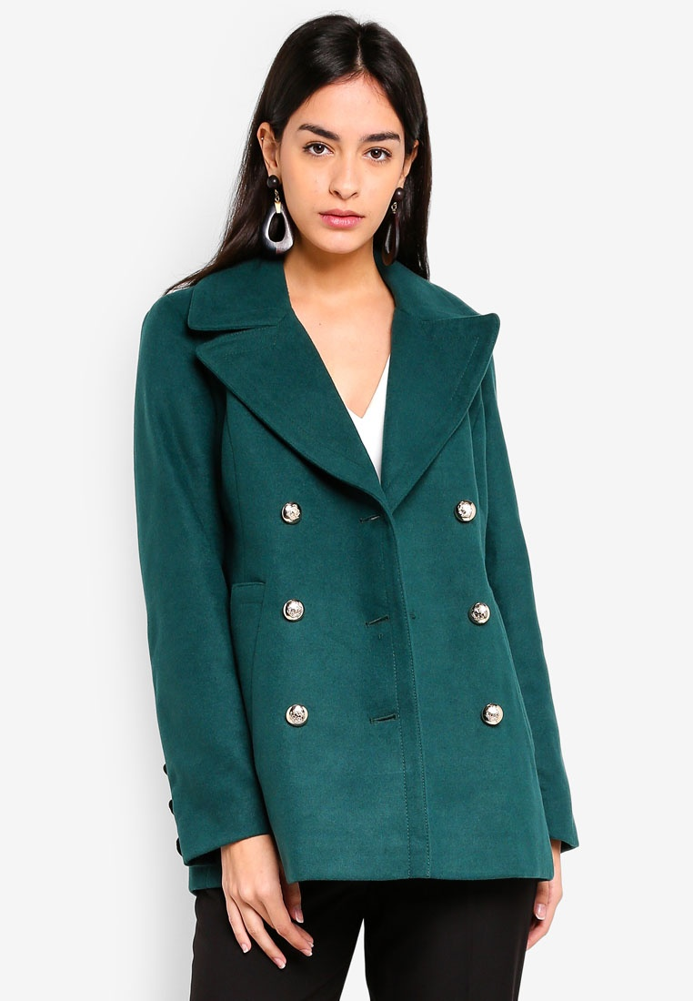 Green Dark Military Miss Coat Green Selfridge OqZ845wf