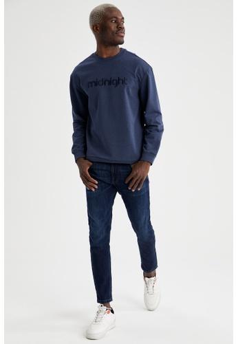 DeFacto navy Man Knitted Sweat Shirt 13AC0AA6F73E08GS_1