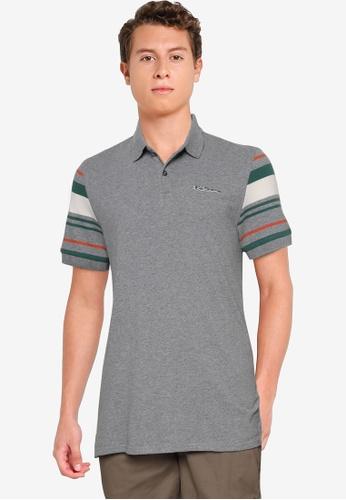 Ben Sherman grey Sleeves Stripe Polo Shirt C0EF1AA83AB2DEGS_1