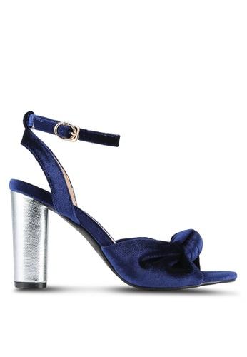 Velvet blue Velvet Ankle Heels 5B027SH726A9C1GS_1