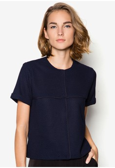 Collection Rolled Sleeve Mesh Tee
