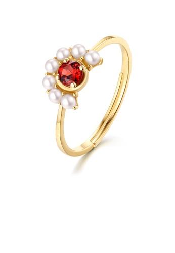 SUNSET gold Premium 14K Gold Pearl Ring 5C254AC8DD8285GS_1