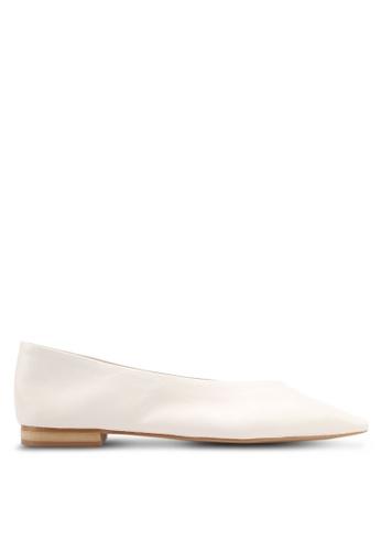Mango white Leather Flat Shoes 3A941SHD8FD01DGS_1