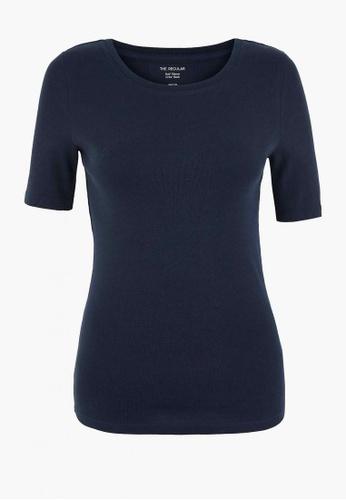 MARKS & SPENCER blue Pure Cotton Regular Fit T-Shirt 46980AACCCA64CGS_1