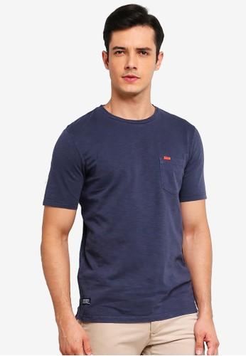 Superdry blue Dry Originals Pocket Short Sleeve Tee 4E2E1AA6059965GS_1