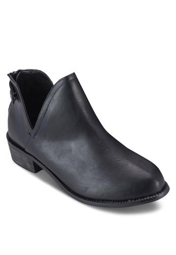 側鏤空仿皮踝靴, 女鞋,esprit台灣門市 靴子