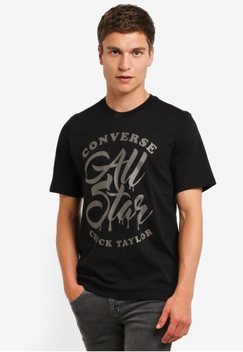 Converse black Graphic T-Shirt CO302AA0RM8EMY_1