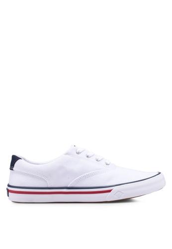 Sperry white Striper II CVO Nautical Sneakers 92AF6SHAC60D93GS_1