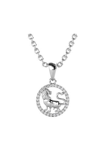 Her Jewellery white Her Jewellery Circlet Leo Pendant with Necklace (White Gold) embellished with Crystals from Swarovski 21C81AC698A353GS_1