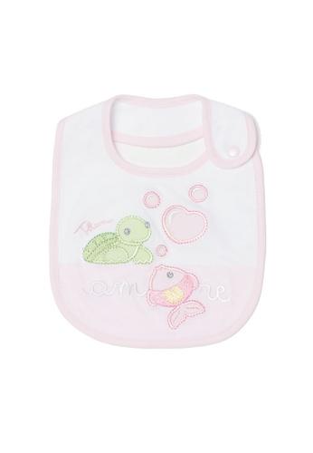 OVS pink Thun Bib With Sweet Friends Embroidery 03E1AKC714BB8DGS_1