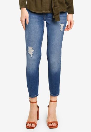 Miss Selfridge blue PETITE Mid Blue High Waist Skinny Miss Eco Jeans 4D5B5AAB8CB136GS_1