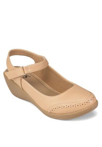沖孔低楔形涼鞋、 女鞋、 涼鞋LouisCuppers沖孔低楔形涼鞋最新折價