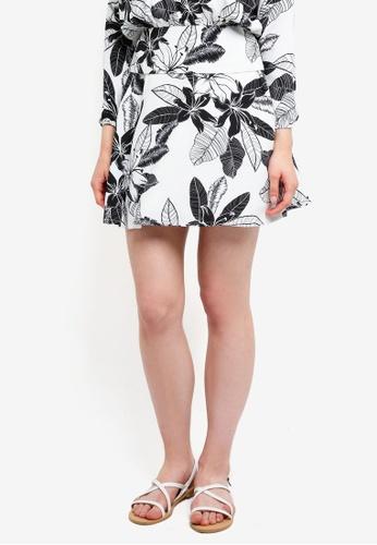 Something Borrowed white Printed Skater Skirt 47802AAAE750ACGS_1
