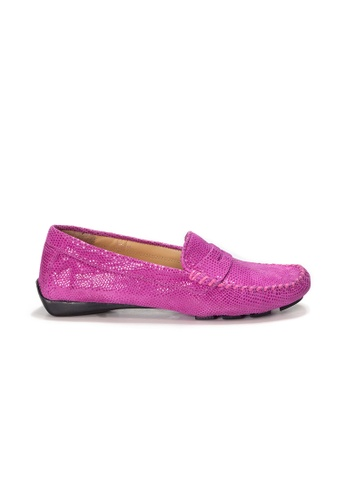 Shu Talk pink AMAZTEP Slip On Printed Leather Driving Loafer Shoes E8DA9SH5529DD3GS_1