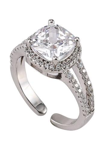 Megane silver Betty Cushion Cut Adjustable Ring 1CE85AC9D6D62FGS_1