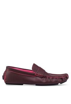 【ZALORA】 British 仿皮船型鞋