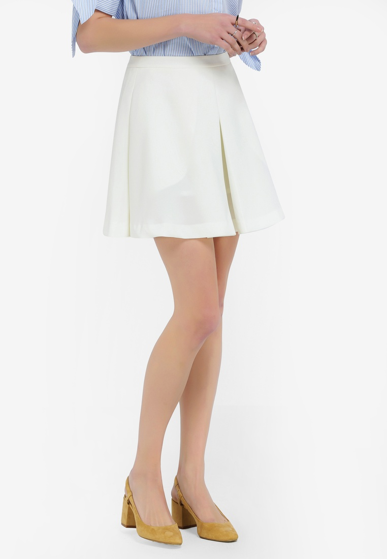 High White Waist Skirt High High Skirt Hopeshow Waist Hopeshow White Hopeshow rWRztSW